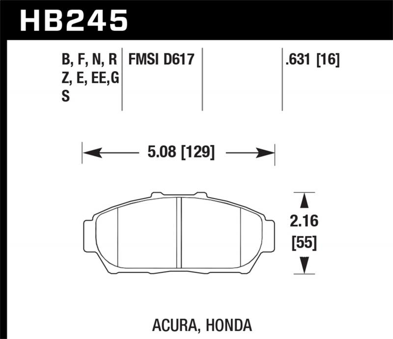Hawk Performance Disc Brake Pad Front - HB245N.631