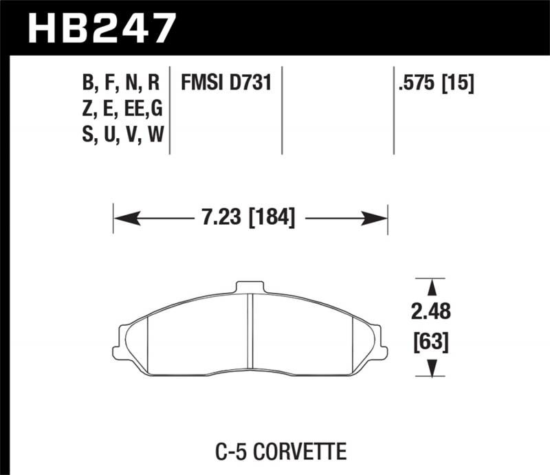 Hawk Performance Disc Brake Pad Front - HB247F.575