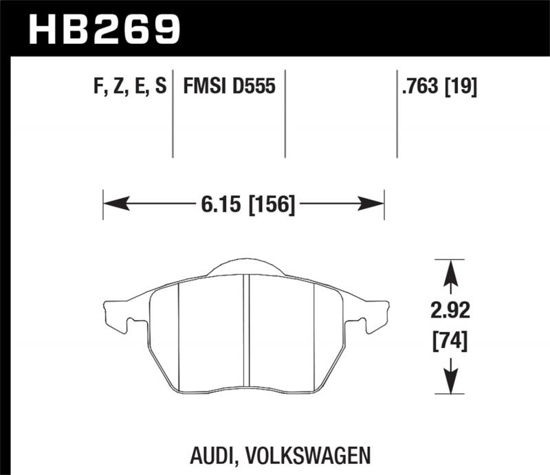 Hawk Performance Disc Brake Pad Front - HB269F.763A