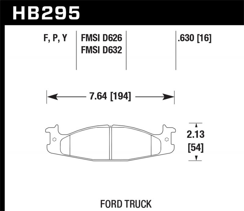 Hawk Performance Disc Brake Pad Ford Front - HB295F.630
