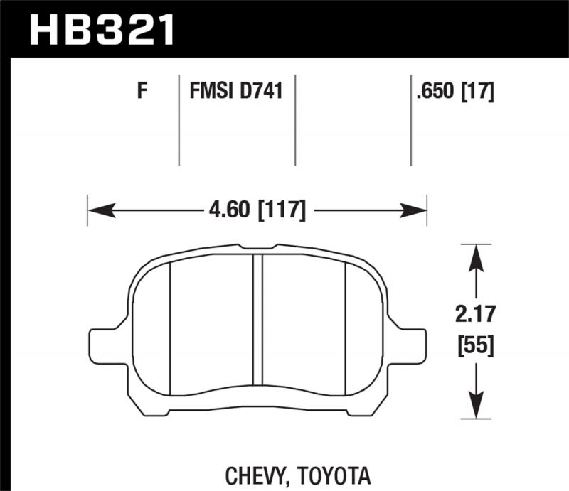 Hawk Performance Disc Brake Pad Front - HB321F.650
