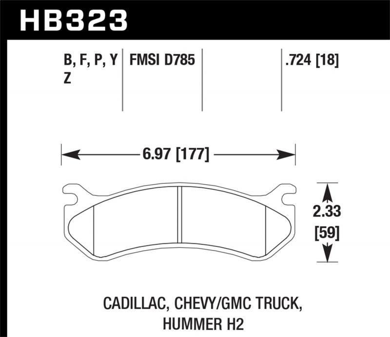 Hawk Performance Disc Brake Pad - HB323F.724