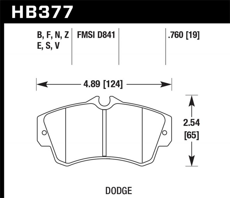 Hawk Performance Disc Brake Pad Front - HB377F.760