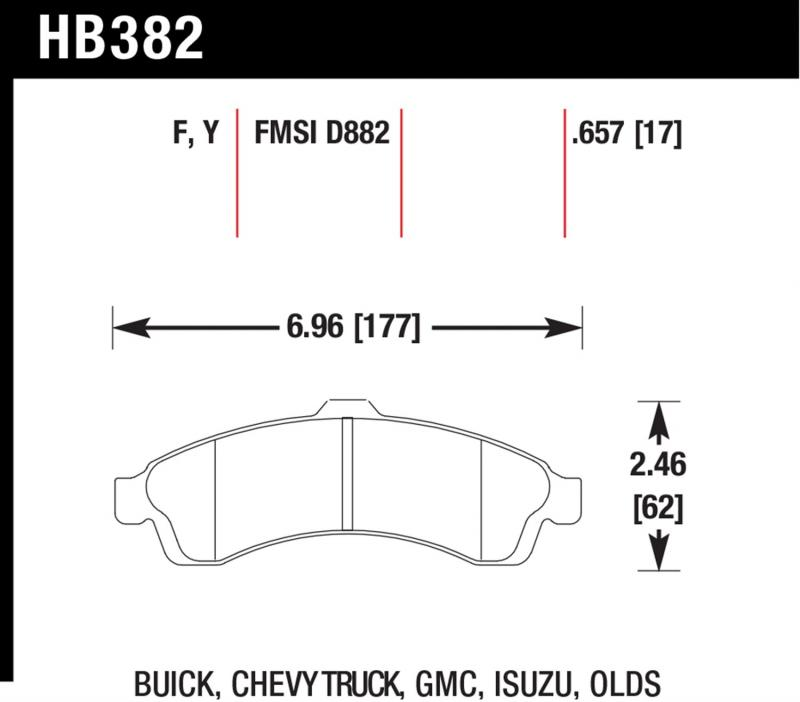 Hawk Performance Disc Brake Pad Front - HB382F.657
