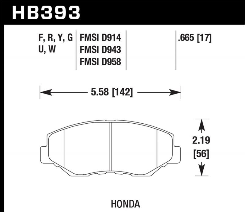 Hawk Performance Disc Brake Pad Front - HB393F.665