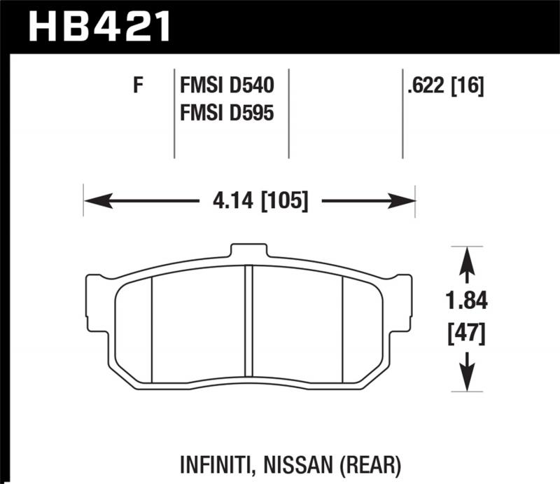 Hawk Performance Disc Brake Pad Rear - HB421F.622