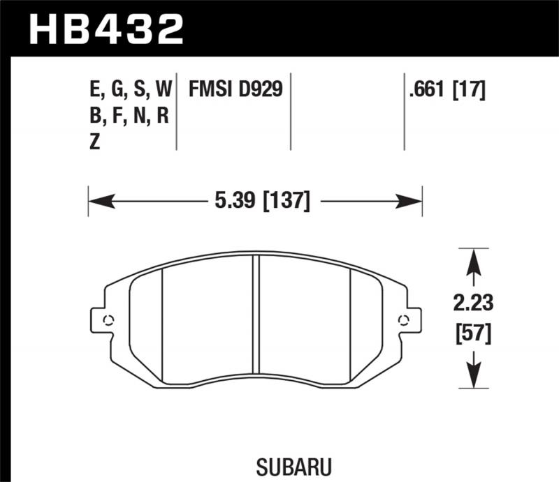Hawk Performance Disc Brake Pad Front - HB432F.661