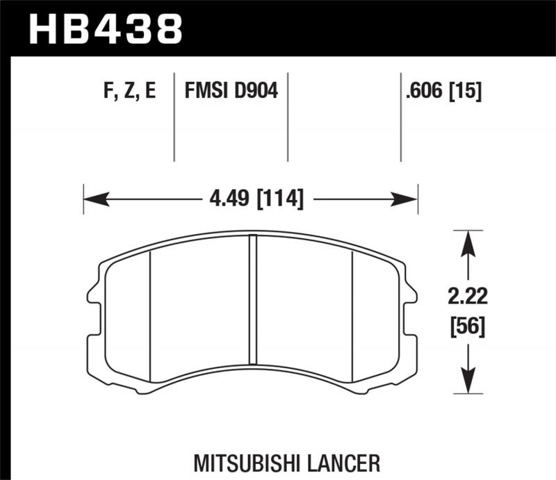 Hawk Performance Disc Brake Pad Mitsubishi Front - HB438F.606