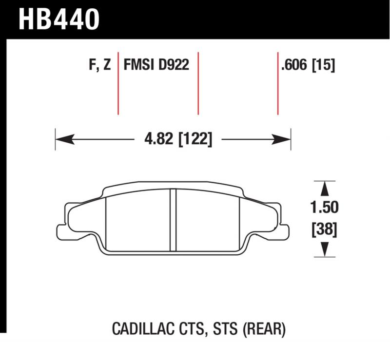Hawk Performance Disc Brake Pad Rear - HB440F.606