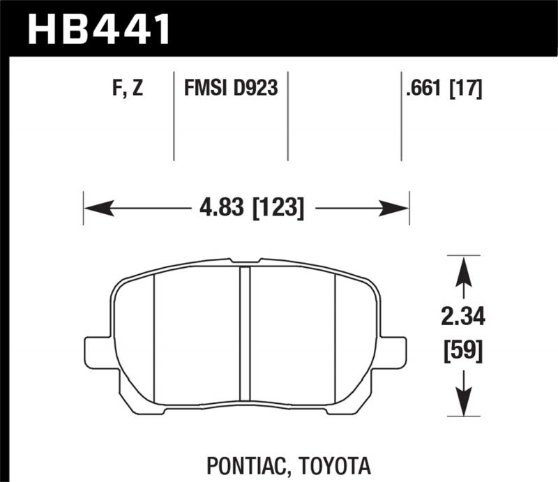 Hawk Performance Disc Brake Pad Front - HB441F.661