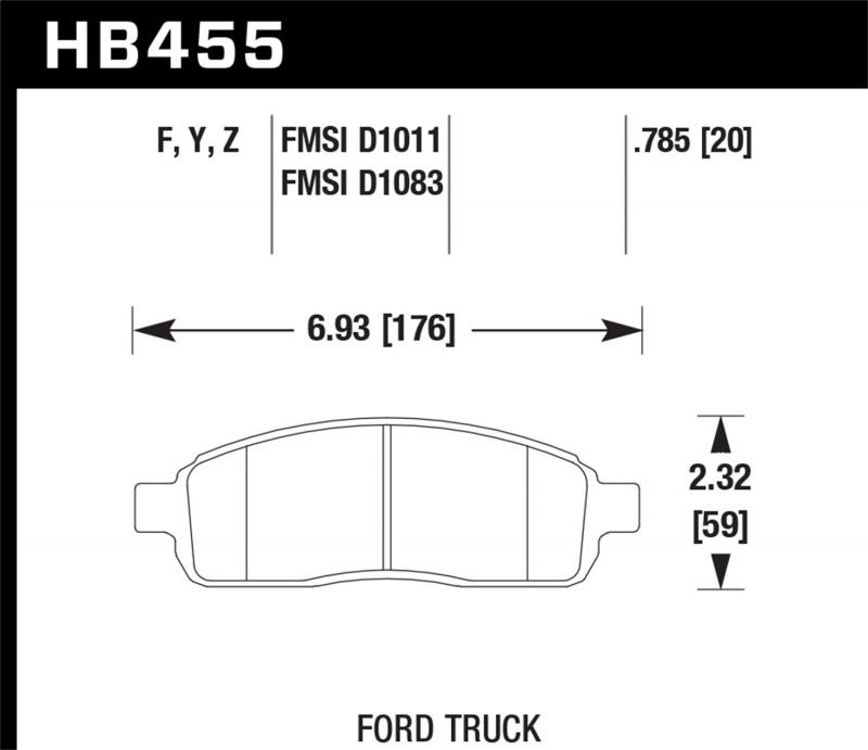 Hawk Performance Disc Brake Pad Front - HB455F.785