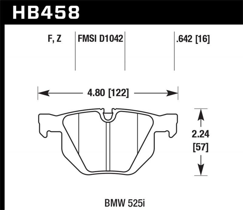 Hawk Performance Disc Brake Pad BMW Rear - HB458F.642