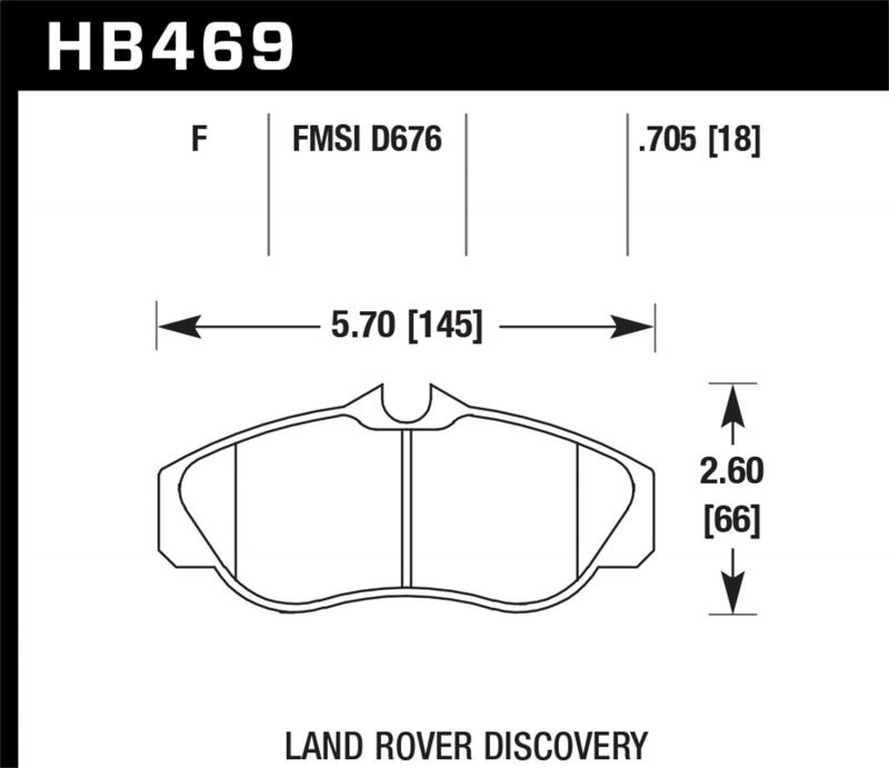 Hawk Performance Disc Brake Pad Land Rover Front - HB469F.705