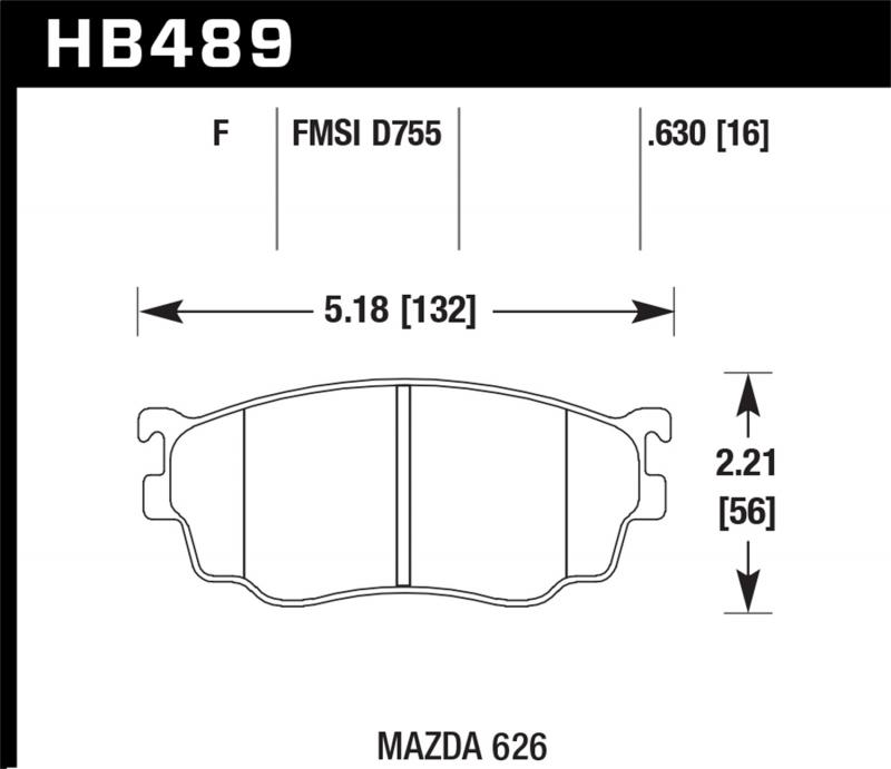 Hawk Performance Disc Brake Pad Mazda Front - HB489F.630