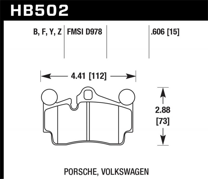 Hawk Performance Disc Brake Pad Rear - HB502F.606