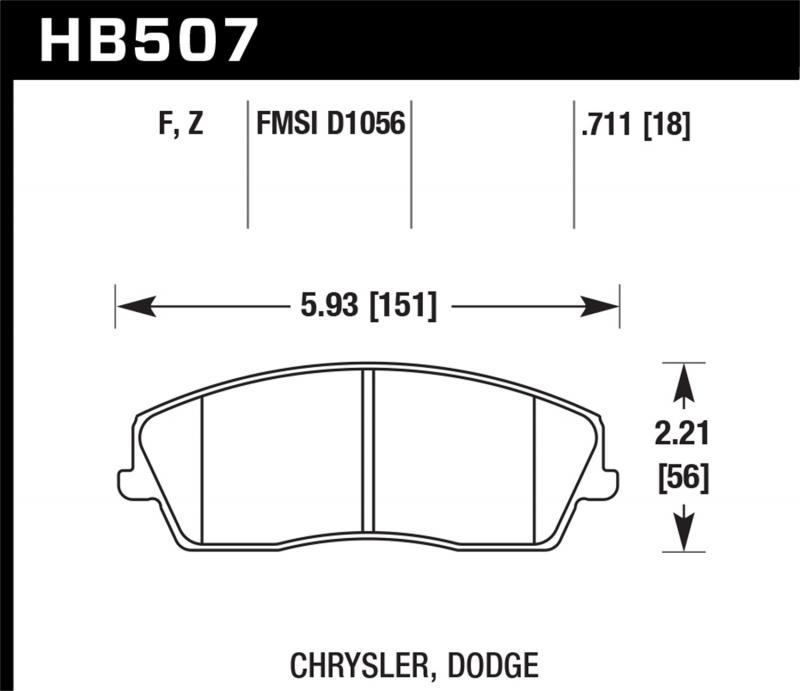 Hawk Performance Disc Brake Pad Front - HB507F.711
