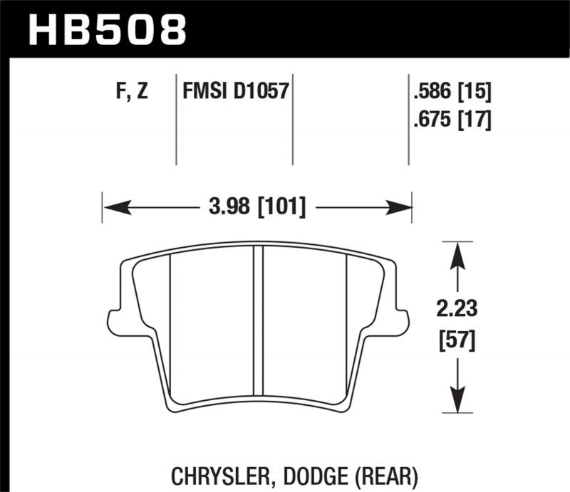Hawk Performance Disc Brake Pad Rear - HB508F.675