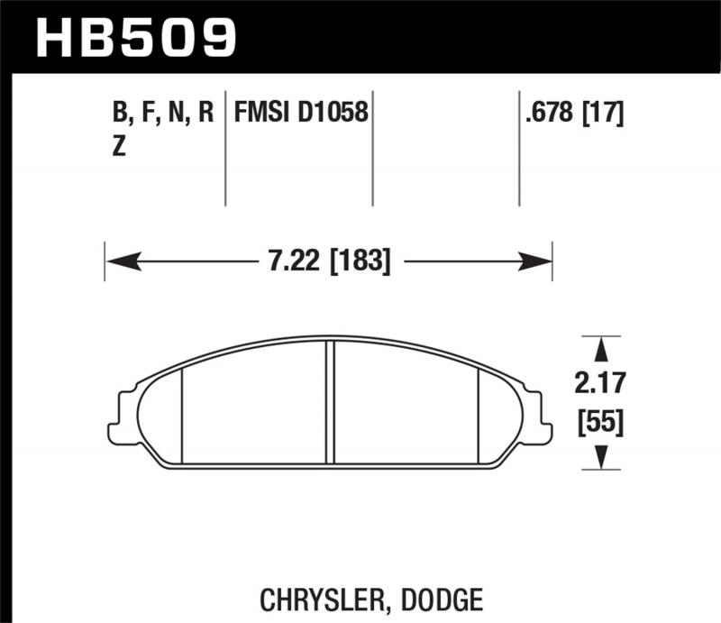 Hawk Performance Disc Brake Pad Front - HB509F.678