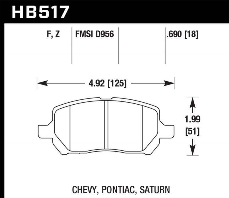 Hawk Performance Disc Brake Pad Front - HB517F.690