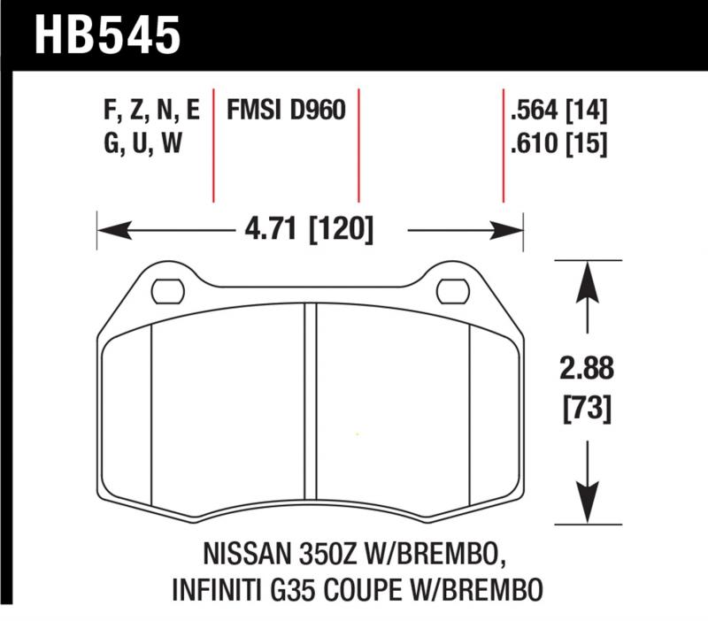 Hawk Performance Disc Brake Pad Front - HB545F.564