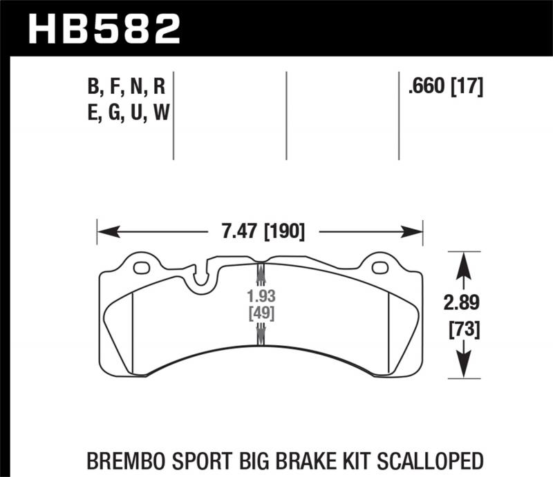 Hawk Performance Disc Brake Pad - HB582U.660