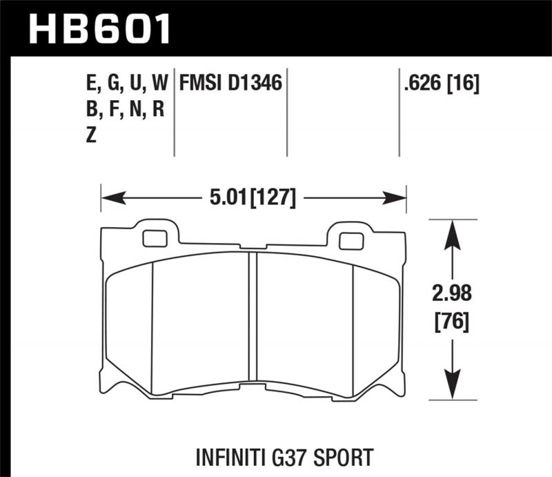 Hawk Performance Disc Brake Pad Front - HB601F.626