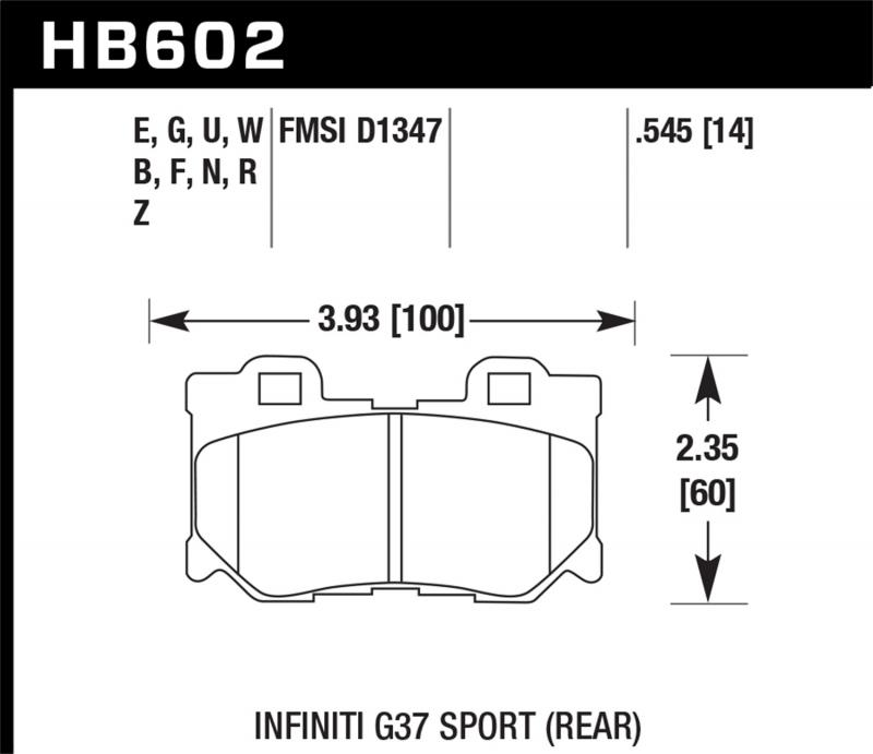 Hawk Performance Disc Brake Pad Rear - HB602F.545