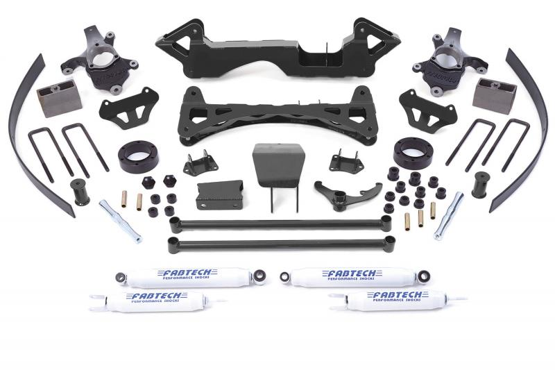 "Fabtech 6"" PERF SYS W/PERF SHKS 1999 ONLY GM K1500 P/U 4WD Chevrolet C/K 1500 1999 - K1001"