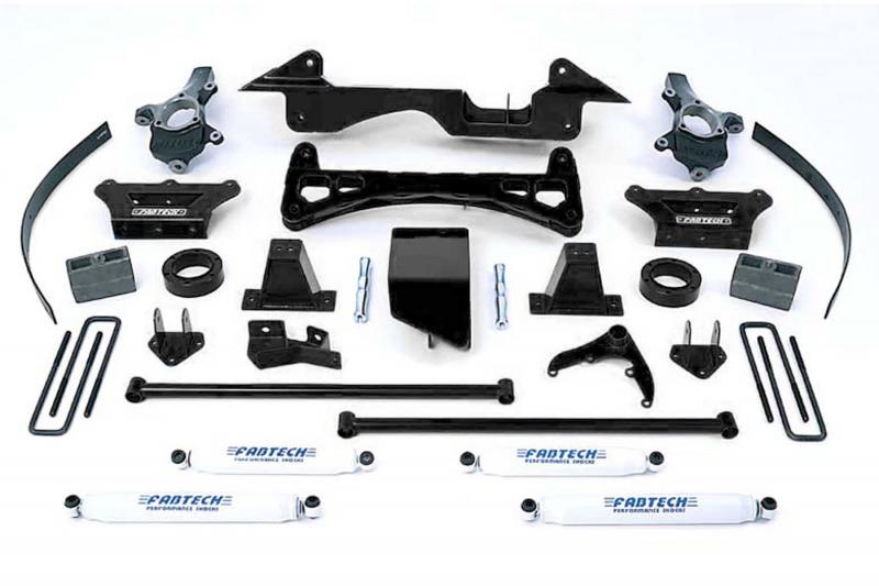 """Fabtech 6"""" PERF SYS W/PERF SHKS 88-98 GM K1500 PU 4WD/92-99 SUB/ 2DR BLZR/4DR TAHOE 4WD Chevrolet - K1005"""