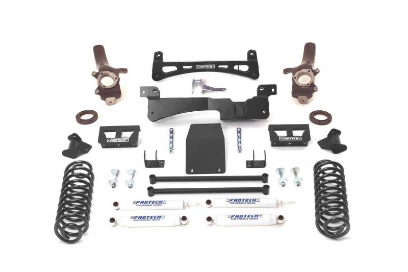 "Fabtech 6"" PERF SYS W/PERF SHKS 97-02 FORD EXPEDITION W/RR COIL SPRINGS 4WD Ford Expedition 1997-2002 - K2006"