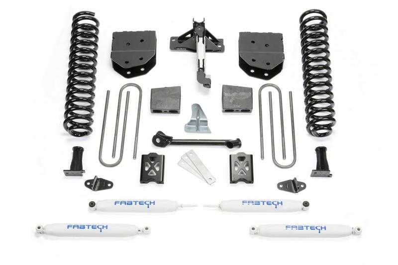 """Fabtech 6"""" BASIC SYS W/PERF SHKS 05-07 FORD F250 4WD W/O FACTORY OVERLOAD Ford F-250 2005-2007 - K2010"""
