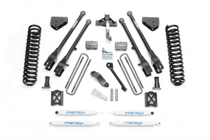 """Fabtech 6"""" 4LINK SYS W/COILS & PERF SHKS 05-07 FORD F250 4WD W/O FACTORY OVERLOAD Ford F-250 2005-2007 - K2013"""