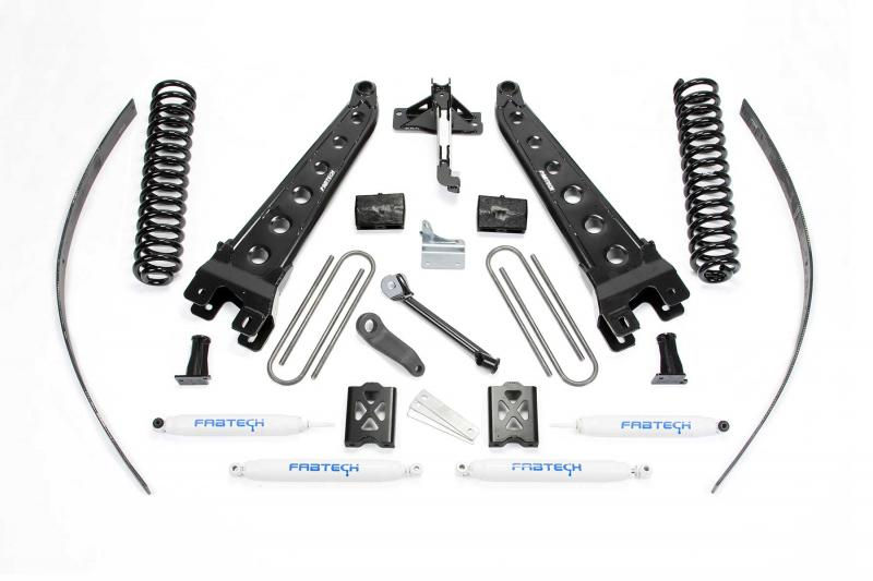 "Fabtech 8"" RAD ARM SYS W/COILS & PERF SHKS 05-07 FORD F250 4WD W/O FACTORY OVERLOAD Ford F-250 2005-2007 - K2015"