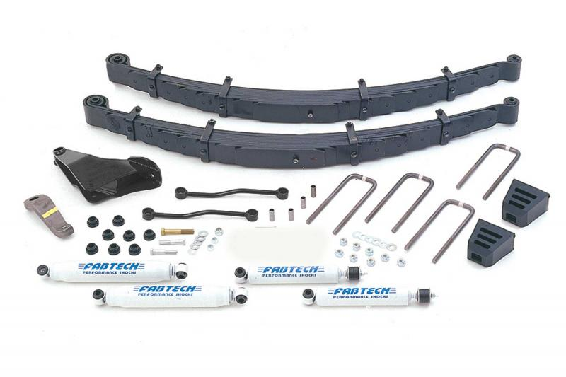 """Fabtech 5.5"""" PERF SYS W/PERF SHKS 00-05 FORD EXCUR W/GAS & 6.0L DIESEL 4WD - K2026"""