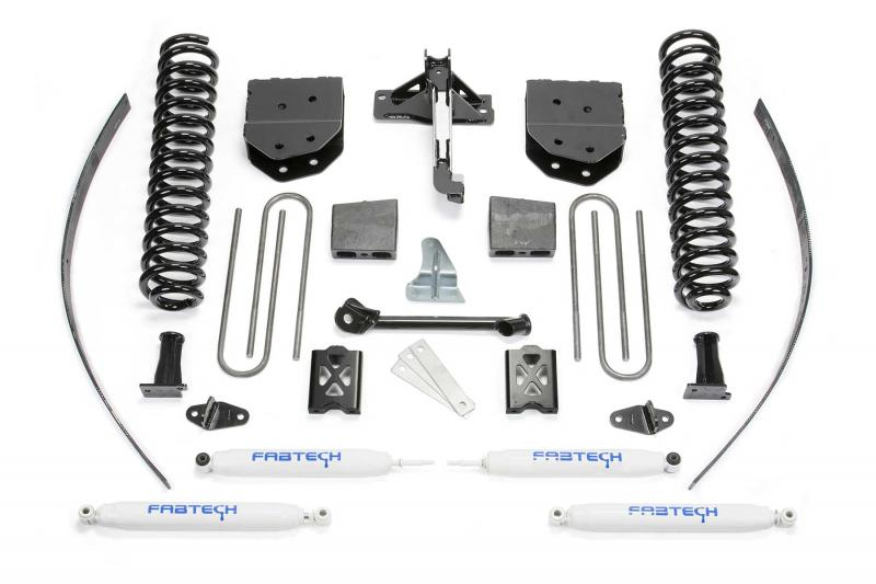 """Fabtech 8"""" BASIC SYS W/PERF SHKS 05-07 FORD F250 4WD W/O FACTORY OVERLOAD Ford F-250 2005-2007 - K2039"""