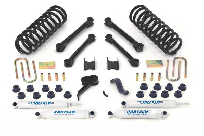 """Fabtech 4.5"""" PERF SYS W/PERF SHKS 03-08 DODGE 2500/3500 4WD DIESEL ONLY Dodge 2004-2008 - K3006"""
