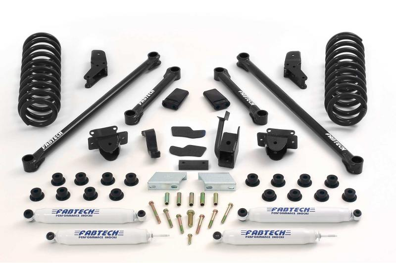 """Fabtech 5.5"""" PERF SYS W/PERF SHKS 94-02 DODGE 2500 4WD Dodge Ram 2500 1994-2002 - K3007"""