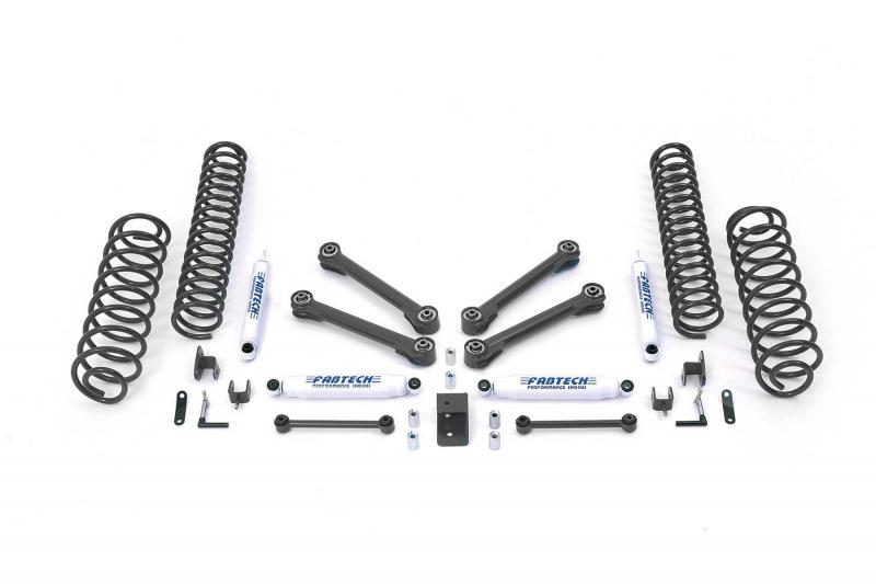 "Fabtech 4"" PERF SYS W/PERF SHKS 97-06 JEEP TJ ALL MODELS 4WD / LJ UNLMTD ALL MODELS Jeep 1997-2006 - K4003"