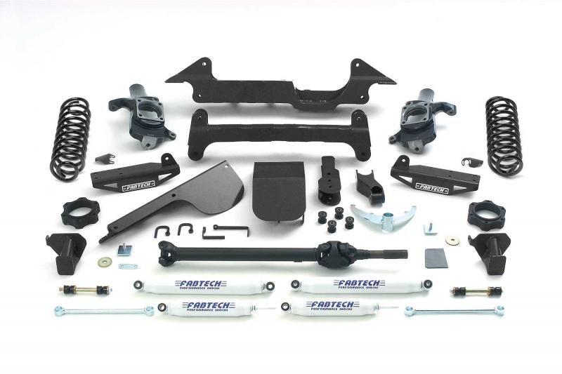 """Fabtech 6"""" PERF SYS W/PERF SHKS 03-08 HUMMER H2 SUV/SUT 4WD W/RR COIL SPRINGS Hummer H2 2003-2008 - K5000"""