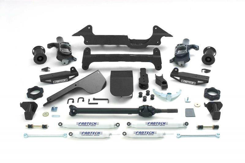 """Fabtech 6"""" PERF SYS W/PERF SHKS 03-05 HUMMER H2 SUV/SUT 4WD W/RR AIR BAGS Hummer H2 2003-2005 - K5001"""