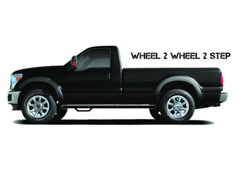 N-FAB F17100CC-TX Textured Black Nerf Step; Wheel 2 Wheel Ford F250 F350 Super Duty SuperCrew 6.75 Bed 17-18