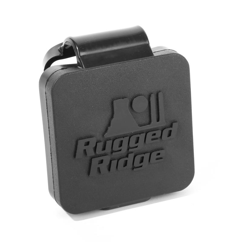 2 Inch Receiver Hitch Plug, Black, Rugged Ridge Lo - 11580.26