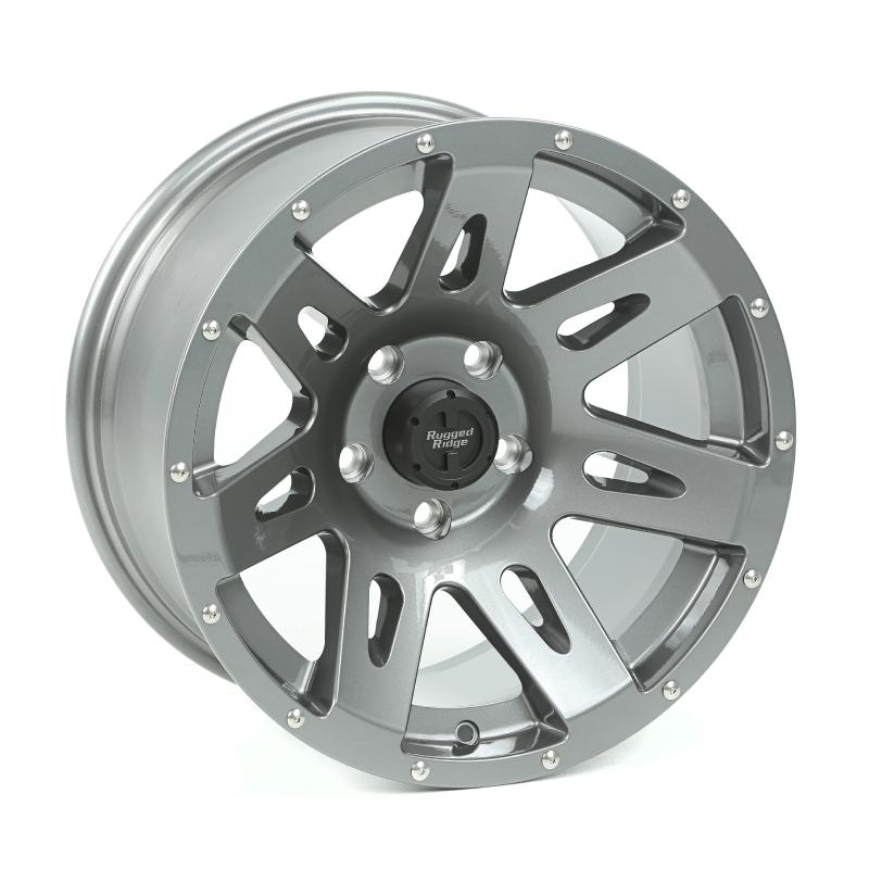Rugged Ridge XHD Wheel, 17x9, Gun Metal; 07-20 Jeep Wrangler / 2020 Gladiator Jeep - 15301.30