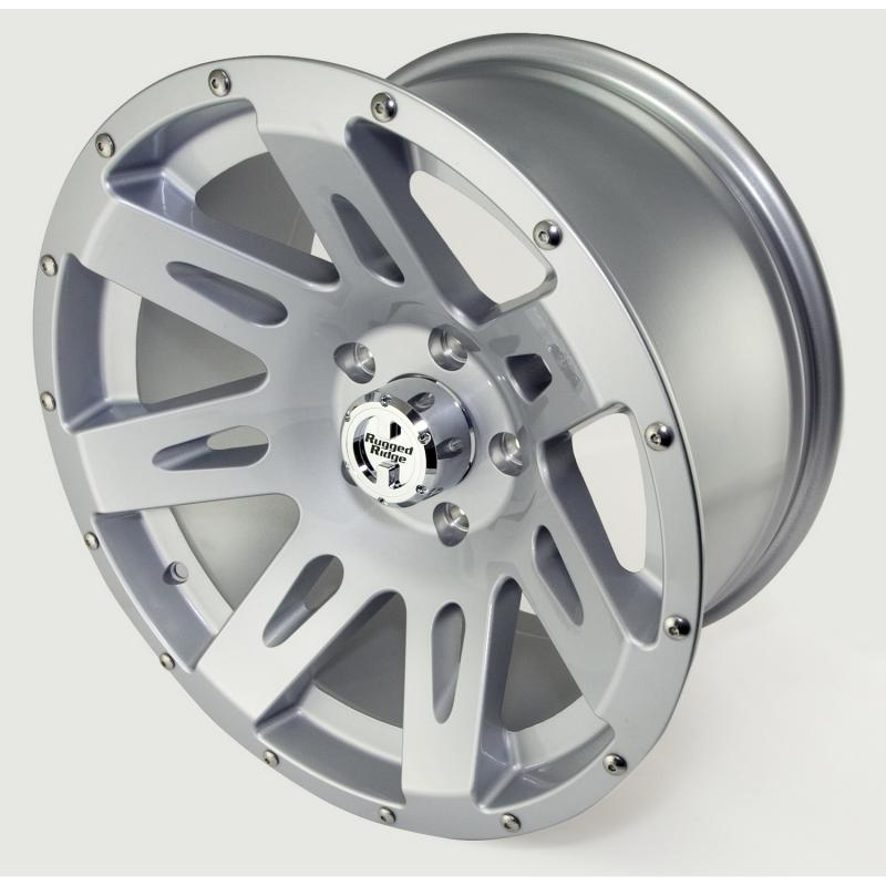 Rugged Ridge XHD Wheel, 17x9, Silver; 07-19 Jeep Wrangler JK/JL Jeep - 15301.40