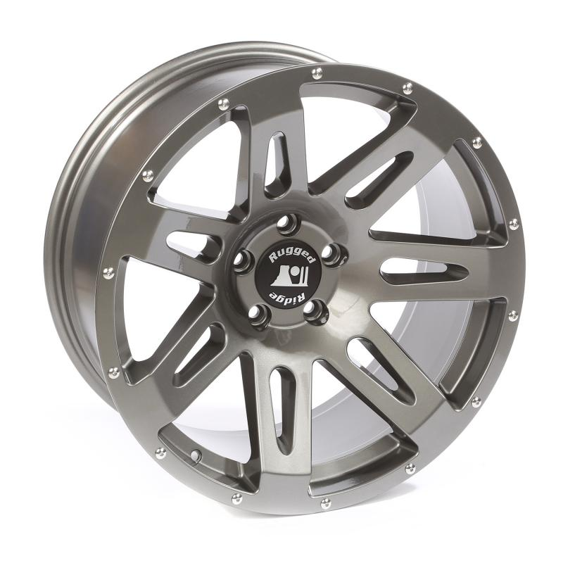 Rugged Ridge XHD Wheel, 20x9, Gun Metal; 07-20 Jeep Wrangler / 2020 Gladiator Jeep - 15306.02