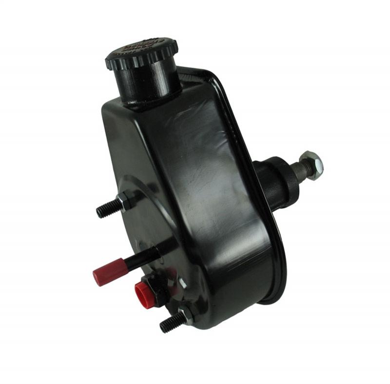 Borgeson P/S Pump; 72-74 Jeep; Saginaw Self Contained Style; Black Reservoir Jeep - 800324