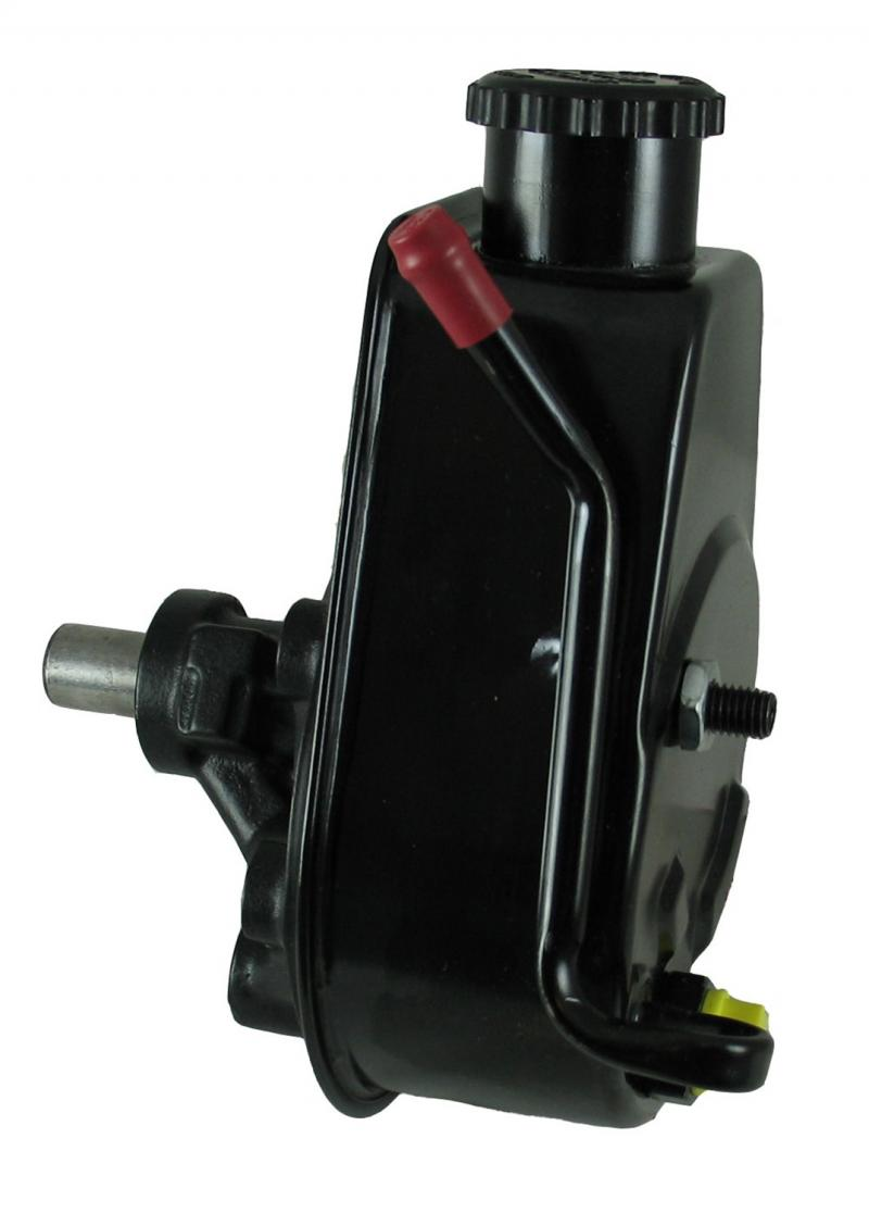Borgeson P/S Pump; 83-90 Jeep; Saginaw Self Contained Style; Black Reservoir Jeep - 800326