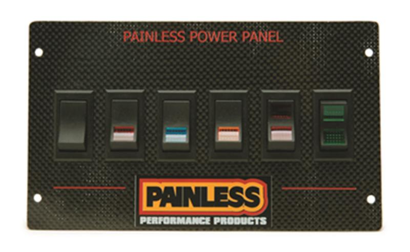 Painless Wiring Carbon Fiber Mustang Power Panel for 1987-93/Rocker Ford - 50430