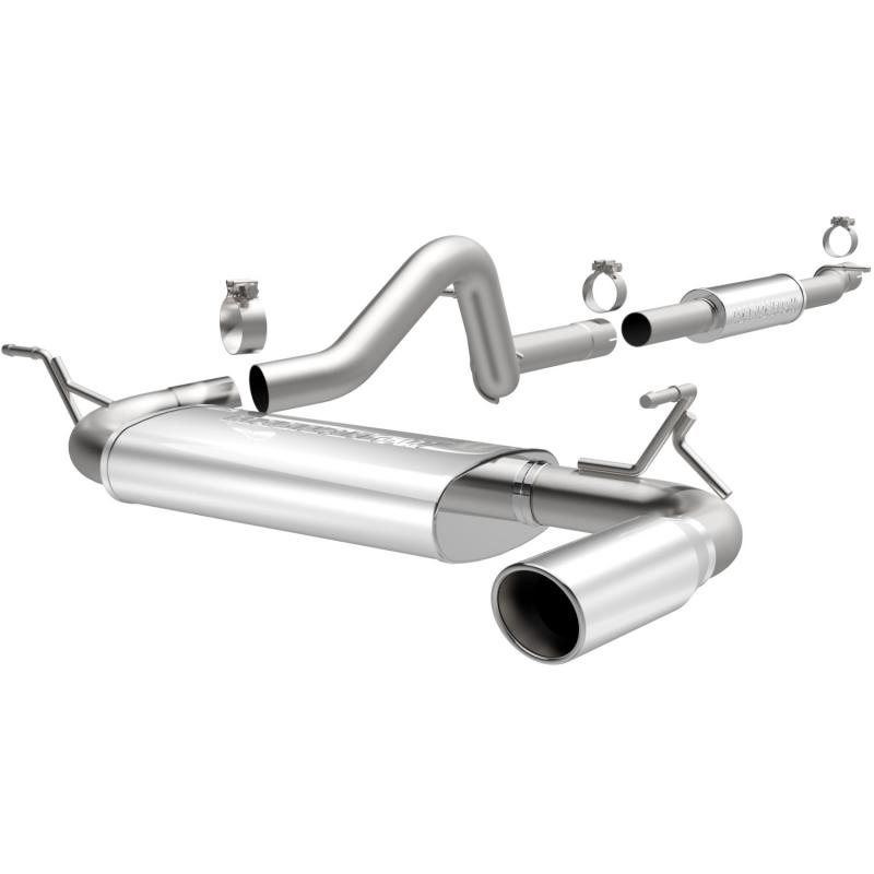 MagnaFlow Exhaust Products MF Series Stainless Cat-Back System Jeep Wrangler 2012-2017 3.6L V6 - 15115