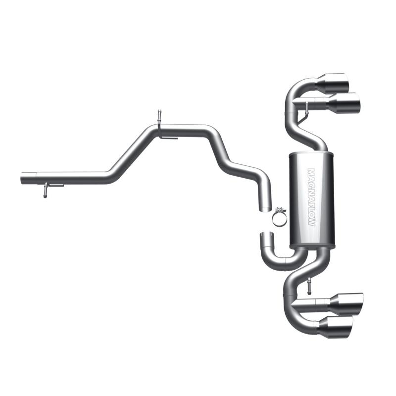 MagnaFlow Exhaust Products Touring Series Stainless Cat-Back System Audi TT MK2 Quattro 2009-2014 2.0L 4-Cyl - 16491